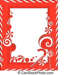 frame of white-red striped