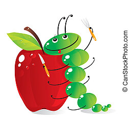 hungry caterpillar - The amusing green caterpillar is going...