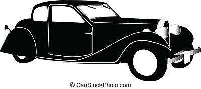 old car - vector