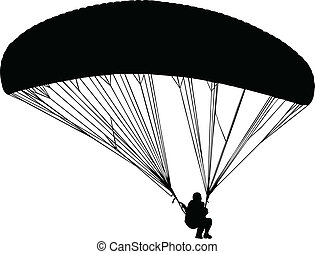 paraglajding - vector - illustration of paraglajding -...