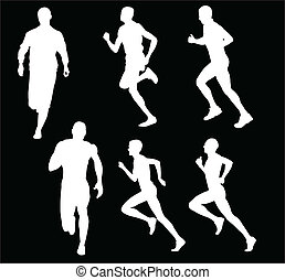 running man - vector - illustration of running man - vector
