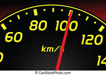 Speedometer. Accelerating Dashboar