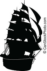ship - vector - illustration of ship - vector