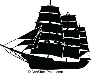 ship - vector - illustration of ship - vector