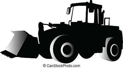 skid loader - vector - illustration of skid loader - vector