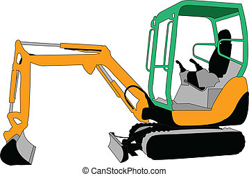 skid loader - vector - illustration of skid loader - vector