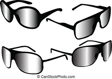 sunglasses collection - vector - illustration of sunglasses...