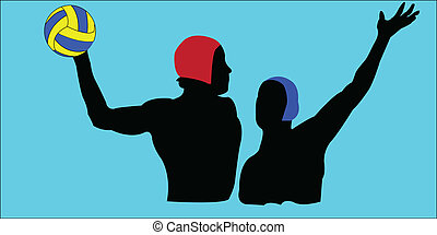 water polo - vector - illustration of water polo - vector