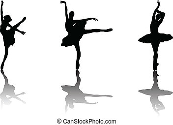 ballerina - vector - illustration of ballerina - vector