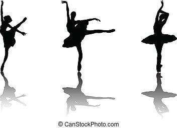 ballerina - vector - illustration of ballerina - vector