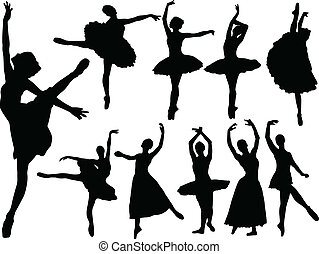 ballerinas collection - vector - illustration of ballerinas...