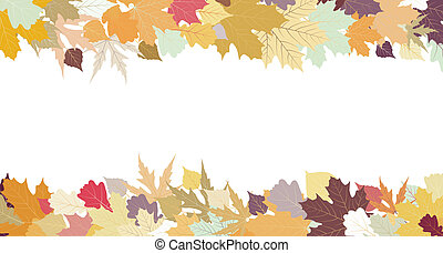 Autumn design with copy space, EPS 8
