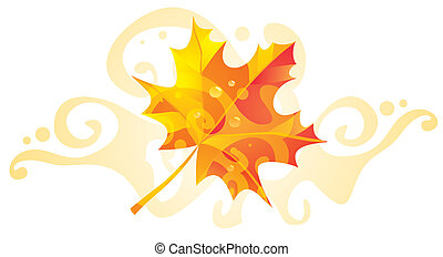 Maple leaf with a pattern