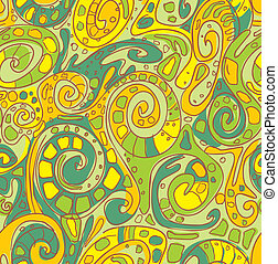 Seamless pattern with original spiral structure