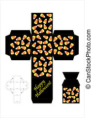 Halloween candy box - A template for a halloween candy gift...