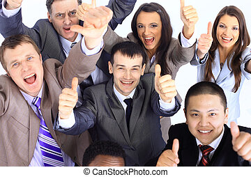 Large group of business people - Large group of business...