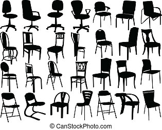 collection of chairs