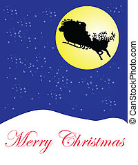 cristmas - Santa claus with presents for world - vector