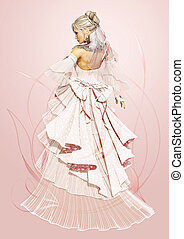 Rose Bride - Portrait of a lady in romantic style