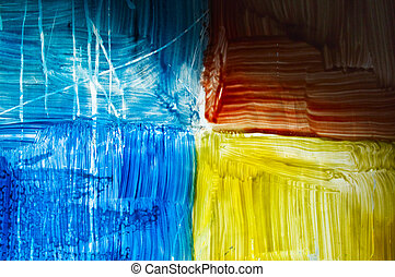 colorful abstraction of glass - colorful abstraction on...