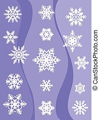 Set from original snowflakes