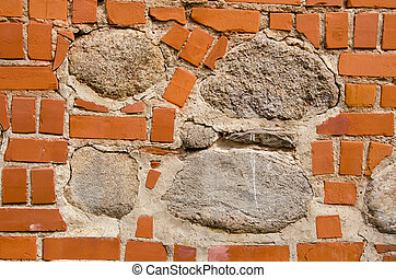 Architectural background - Intresting old wall fragmentmade...
