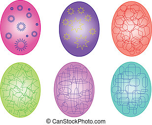 Easter eggs collection - vector