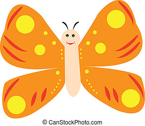 happy butterfly - vector
