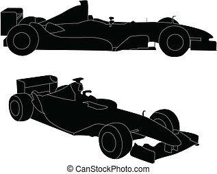 Formula car - vector