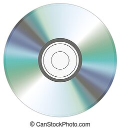 cd illustration on white background