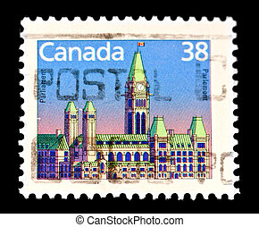Canadian postage stamp - AUSTRALIA-circa 1900's-a postage...