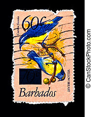 postage stamp with birds on a branch