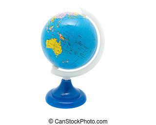 School Globe, isolated background