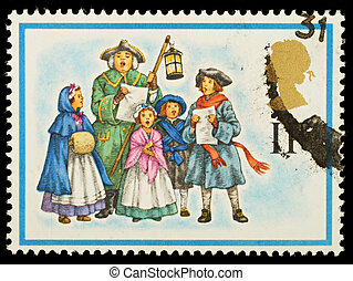 Christmas Postage Stamp - UNITED KINGDOM - CIRCA 1978: A...