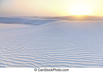 White Sands Sunset - Dramatic sunset at White Sands National...