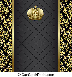 Black and gold background - Black background with gold...