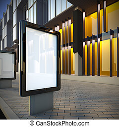Citylight in the downtown - 3D illustration of citylight in...