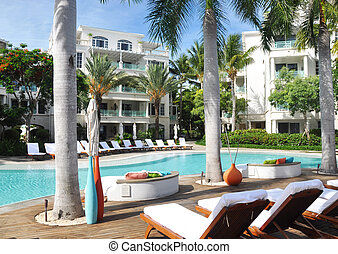 Caribbean resort pool - Luxury resort pool in the Caribbean