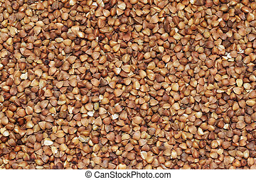 Close-up of a buckwheat background