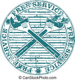 Free service stamp - The vector image of Free service stamp