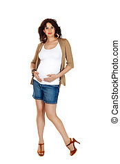pregnant woman in shorts