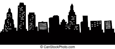 Cartoon Hartford Skyline - Cartoon skyline silhouette of...