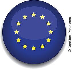 eurpean flag button - european flag in a button