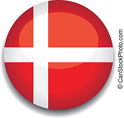 denmark button flag - denmark flag in a button