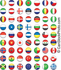 world button flags - flag buttons