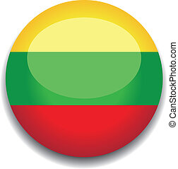 lithuania button flag