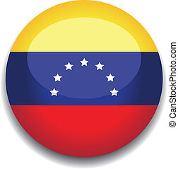 venezuela button flag - venezuela flag in a button
