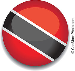 trinidad and tobago button flag - trinidad and tobago flag...