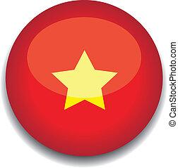 vietnam button flag - vietnam flag in a button