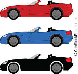 Sports car - vector illustration